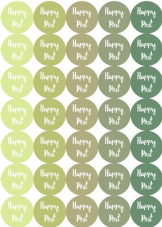 Hombre Happy Post Stickers - Bright Colourful Packaging Stickers